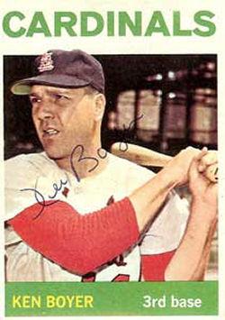 1964 Topps Ken Boyer Baseball Card