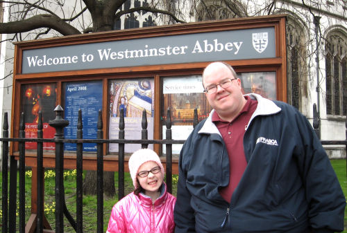 Lizzy and Steve at Westminster Abbey