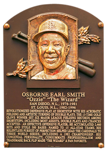 Ozzie Smith Hall of Fame Plaque